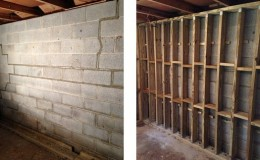 basement wall repair, block repair