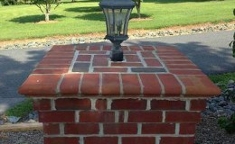 brick column cap replacement