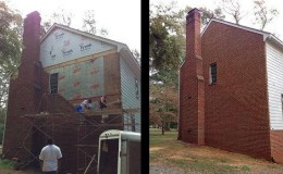 brick masonry wall replacement