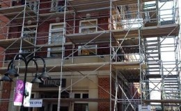 commercial exterior brick repair
