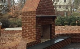 exterior brick fireplace