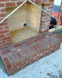 exterior brick hearth