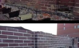 exterior brick wall resporation