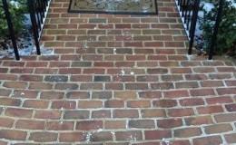 radiant heat brick entry way