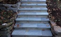 soapstone steps, stone wall