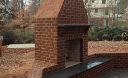 exterior brick fireplace