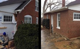 residential brick addition
