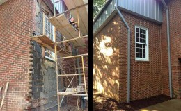 residential masonry, brick wall replacement