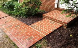 Brick Sidewalk and Stoop