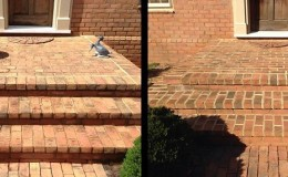 Brick Stoop Cleaning and Repointing